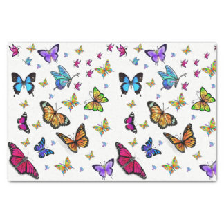 Decorative tissue paper butterflies