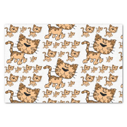 Decorative tissue paper cats kittens
