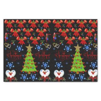 Decorative tissue paper christmas trees
