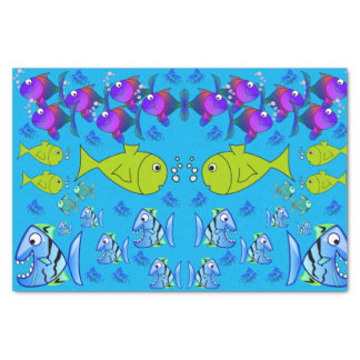 Decorative tissue paper fish
