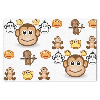 Decorative tissue paper monkeys