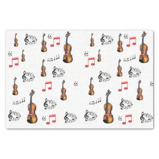 Decorative tissue paper musicians music