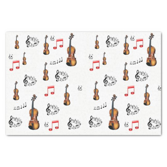 Decorative tissue paper musicians music