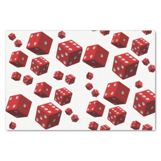 Decorative tissue paper red dice mancave