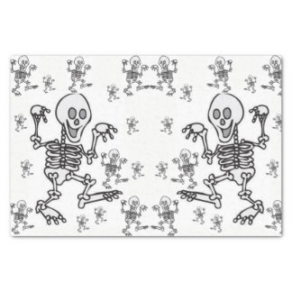 Decorative tissue paper skeletons halloween