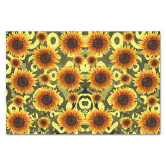 Decorative tissue paper sunflowers