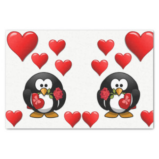 Decorative tissue paper valentines kisses