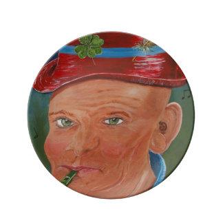 Decorative 'Toby' Plate Porcelain Plates
