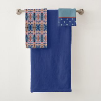 Decorative Towel Set With Blues