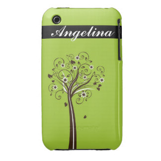 Decorative Tree - customizable iPhone 3 Covers