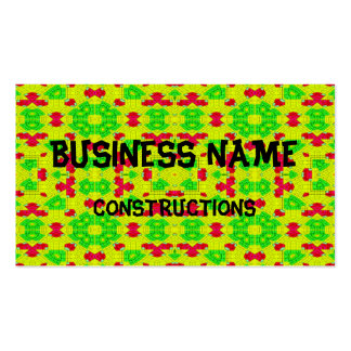 Decorative trendy stylish pattern pack of standard business cards