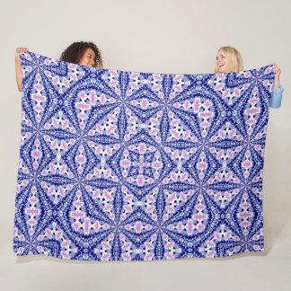 Decorative Tribal Girl Native Quilt Fleece Blanket