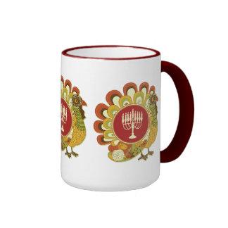 Decorative Turkey Menorah Ringer Mug