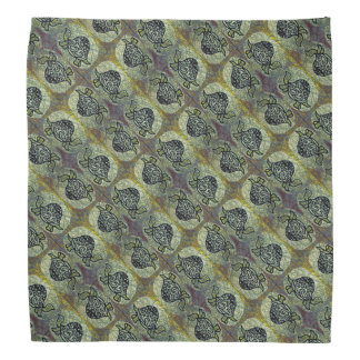 Decorative Turtle Pattern Kerchief