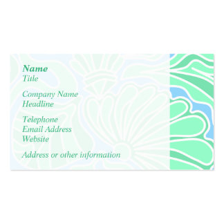 Decorative Underwater Themed Design. Double-Sided Standard Business Cards (Pack Of 100)