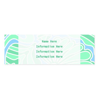 Decorative Underwater Themed Design. Pack Of Skinny Business Cards