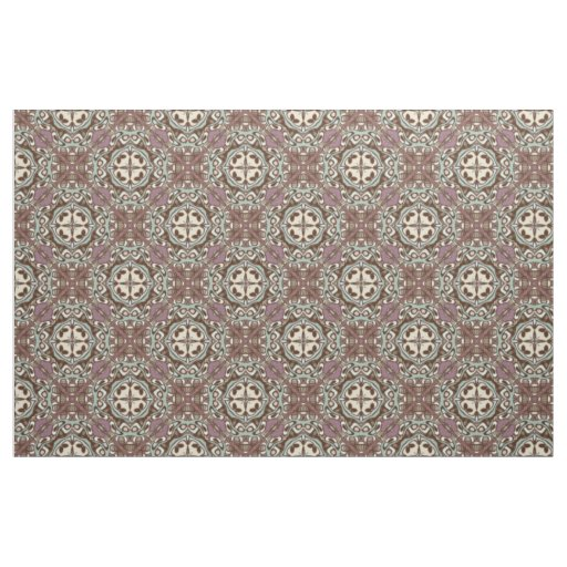 Decorative Vintage Retro Chic Nouveau Deco Pattern Fabric