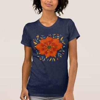 Decorative Whimsical Orange Flower T Shirts