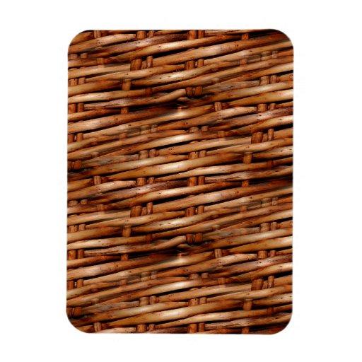 Decorative Wicker Basket Look Rectangle Magnet