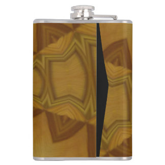 Decorative wood pattern hip flask