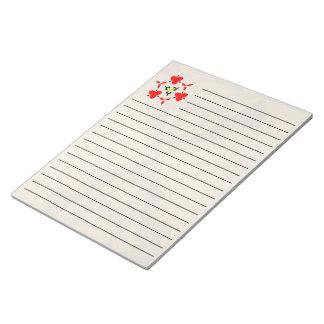 Decorative wood pattern notepad