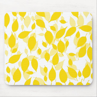 Decorative yellow floral pattern mouse pad