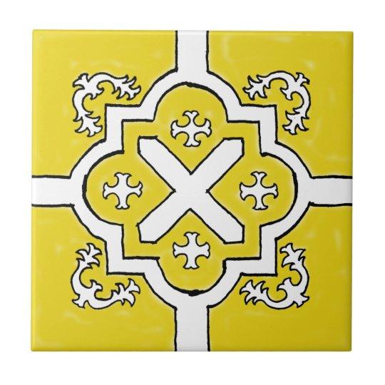 Decorative Yellow Spanish Style tile
