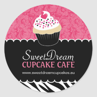 Decorative Zebra Print Cupcake Jar Stickers