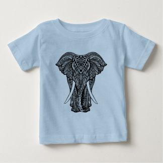 Decorative Zendoodle Elephant Illustration Baby T-Shirt