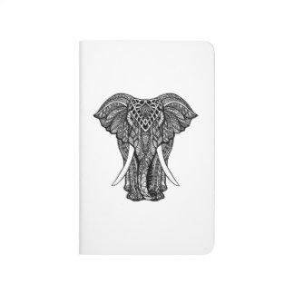 Decorative Zendoodle Elephant Illustration Journal