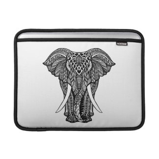 Decorative Zendoodle Elephant Illustration Sleeve For MacBook Air