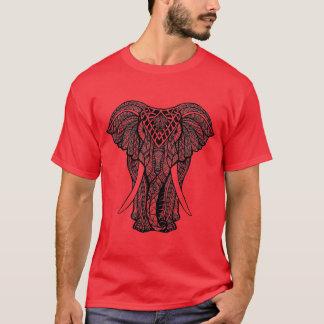 Decorative Zendoodle Elephant Illustration T-Shirt