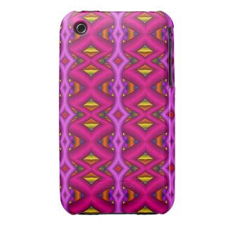 Decorative zigzag patterns iPhone 3 case