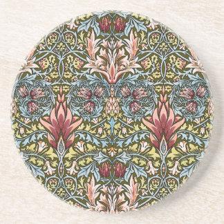 Decorator Floral Wallpaper Pattern Vintage Chic Coaster