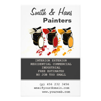 Decorator Painters House Painting Full Color Flyer
