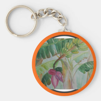 DeCosta blue heron Zazzle Basic Round Button Key Ring