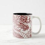 Decoupage of a Chinese dragon Two-Tone Mug