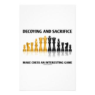Decoying And Sacrifice Make Chess Interesting Game Personalized Stationery