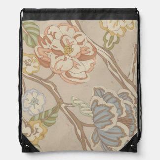 Decrative Organza Chintz Floral Design Drawstring Bag