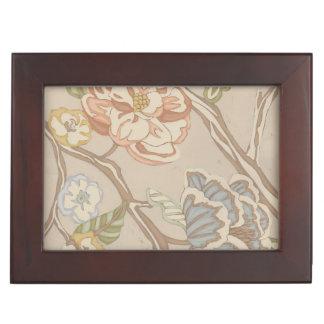 Decrative Organza Chintz Floral Design Memory Box