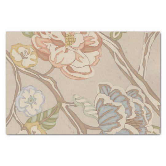 Decrative Organza Chintz Floral Design Tissue Paper