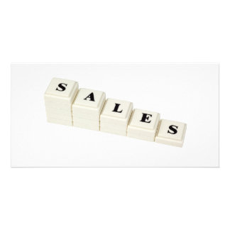 Decreasing Sales Customized Photo Card