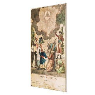 Decree Instituting the Freedom of Worship Canvas Print