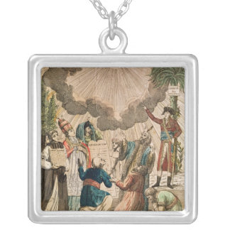 Decree Instituting the Freedom of Worship Silver Plated Necklace