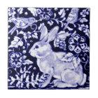 Dedham Blue Rabbit, Classic Blue & White Design Tile