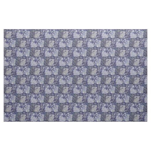 Dedham Blue & White Rabbit Ceramic Tile Fabric