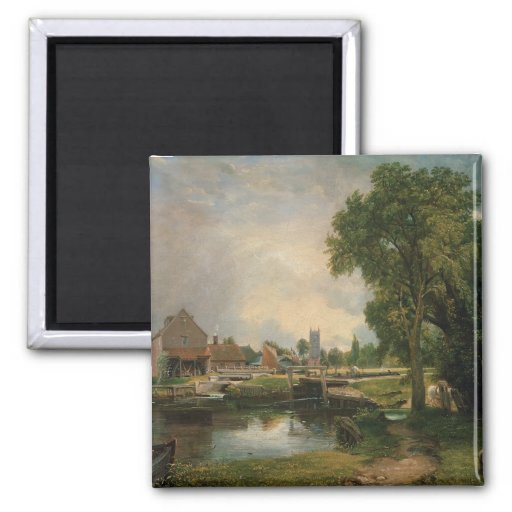 Dedham Lock and Mill, 1820 Magnet