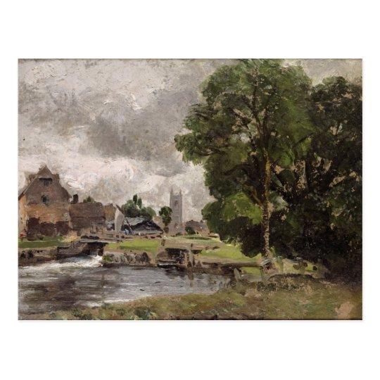 Dedham Lock and Mill Postcard