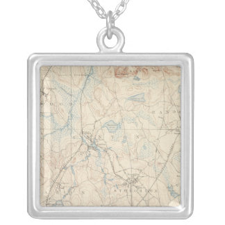 Dedham, Massachusetts Silver Plated Necklace