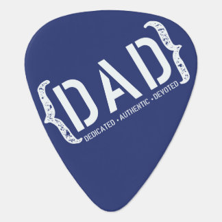 Dedicated DAD Blue and White Guitar Pick